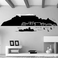 table mountain wall art stickers