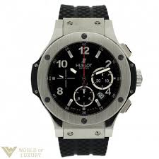 hublot watches buy online price list shop at world of luxury in hublot big bang stainless steel rubber chronograph automatic men s watch buy online watches premium