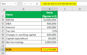 Free Cash Flows Example Free Cash Flow From Ebitda Calculation Of Fcff Fcfe From