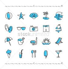 Summer Icons Set Of Summer Icons Vector Image 2032309 Stockunlimited