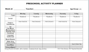 Lesson Plan Printable Template Free Printable Lesson Plan Templates Preschool Free Blank Preschool