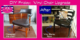 DIY Friday: Upgrade this chair with Vinyl Spray Paint!