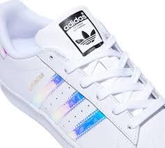 Mens Shoes Adidas Superstar Metal Silver Iridescent Women Boys