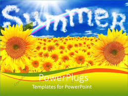 Summer Powerpoint Templates Sunflower Powerpoint Template Themed Templates Free Download