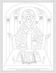 Byzantine Icon Coloring Page The Holy