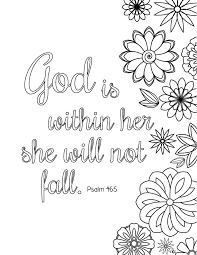 Bible Verse Coloring Pages God Is Within Her Free Printable
