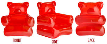 inflatable furniture set. the gummy bear chair inflates to approximately 38u201d x 28u201d inflatable furniture set o