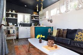 Home spaces furniture Desks Small Living Space With Funky Decor The Spruce Decorating Small Spaces Outdated Rules You Can Break