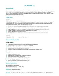 A HR manager CV template with a simple but eye catching design.