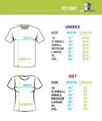 Small T Shirt Size Chart Size Chart Jeca Garments
