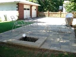 square paver patio with fire pit. Square Paver Patio Fire Pit In Oaks Concrete With H