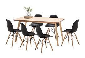 sku feel1393 wyatt dining table set with 6 replica eames chairs is also sometimes listed under the following manufacturer numbers 41 052 kit 7