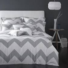lofty chevron bedding uk boutique charcoal grey zigzag geometric cotton duvet quilt cover cot baby nursery