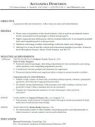 Objective For Resume In Sales Resume Objective Statement For Sales Associate Paper Writing