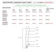 Arm Sleeve Size Chart Lymphedema Sleeve 4 Chamber Compression Garment By Bio