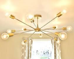 brass modern chandelier antique mid century diy