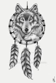Wolf Head Dream Catcher
