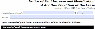 how to write a rent increase notice