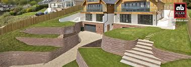 terraced retaining walls by allan block