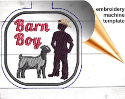 Boer Goat Embroidery Designs Boer Goat Snap Tab Embroidery Design File In The Hoop Key Fob Pattern Pes Keychain Embroidery File Template Farm Boy Keychain 4h Gift