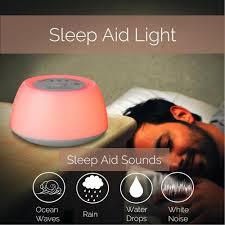 details about sunrise wake up light alarm bedside clock white noise machine w sleep aid gift