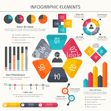 Professional Stock Chart Colorful Business Infographic Elements Set Including