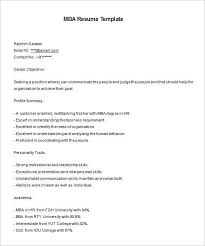 mba resume template 11 free samples examples format download mba freshers resume format