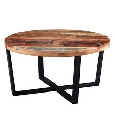coastal reclaimed wood round coffee table furniture123 within remodel 3