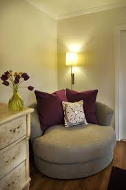 Great corner chair ---Choose an oversized chair in a small space --