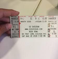Hand Picked Ed Sheeran Rose Bowl Seating Chart Rose Bowl