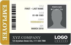 Free Id Badge Template Staff Id Badge Template Employee Id Card Template Ms Word Free Staff