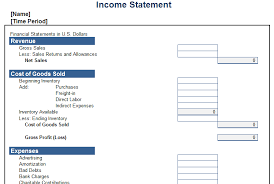 excel income statement income statement template excel free download