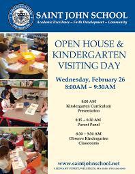 Kindergarten Visiting Day Open House Flyer St John The Evangelist