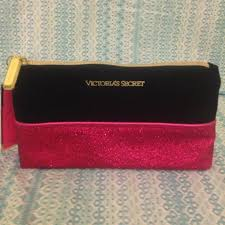 emilxyx 3 years ago pembroke pines fl usa victoria s secret black and pink glitter makeup bag