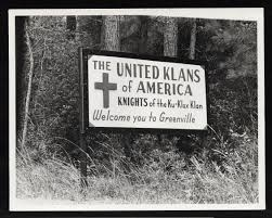 ku klux klan welcome sign details
