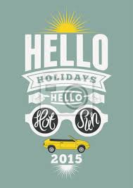 Retro Holidays Fototapete Summer Holidays Retro Poster Vintage Vector Typographical Design