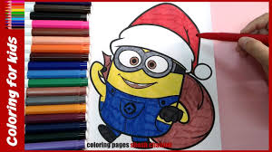 Small Picture minion christmas coloring pages for kids xmas coloring from