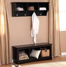 entryway bench coat rack espresso wood freestanding entry with and floating  racks . entryway bench coat rack ...