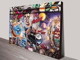 wicked weird graffiti canvas print wall beautiful wall art melbourne