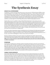 example of synthesis essay how to write a synthesis essay