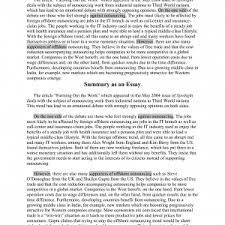 how to write a summary essay how response paper example cover letter  how to write a summary essay examples best photos of sample article summary apa journal