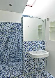 view in gallery bold tile in a small bathroom