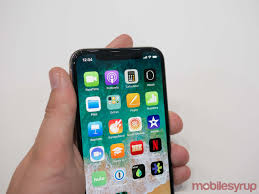 apple iphone 10. with an edge-to-edge screen and no home button, waking the iphone x is completed by tapping on screen. users can then access swiping apple iphone 10 7