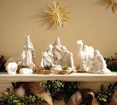 ceramic nativity scene sets set white house nativity scene