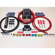fuse box kits 10 way fuse box distribution kit negative bus bar cable terminals fuses