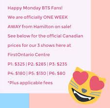 Firstontario Centre Bts Seating Chart