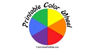 Great for a science lesson and/or an art project! Printable Color Wheel Primary Secondary Colors Colours