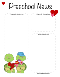february newsletter template preschool valentines day february newsletter template the crafty
