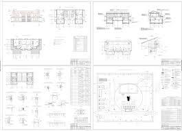 Курсовые и дипломные проекты коттеджи дачи скачать котедж в dwg  Дипломный проект Двухэтажный блокированный коттедж с цокольным этажом 20 38 х 10 89