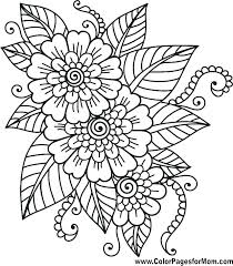 Coloring Pages Easy Flower Coloring Pages Adults Printable Colori